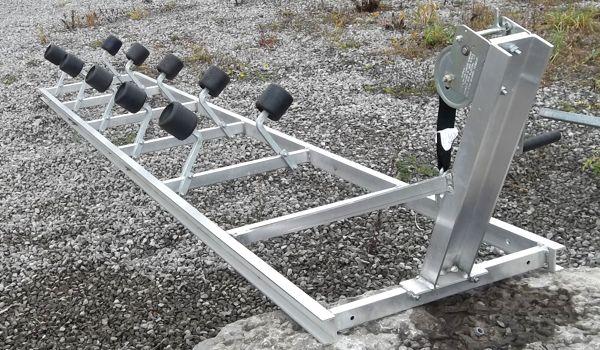 Aluminium marine roller ramp